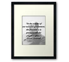 Presidency - Grover Cleveland Framed Print