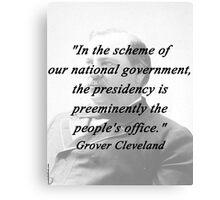 Presidency - Grover Cleveland Canvas Print