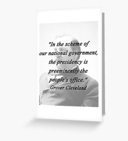 Presidency - Grover Cleveland Greeting Card