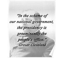 Presidency - Grover Cleveland Poster