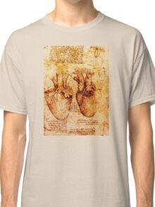 Heart And Its Blood Vessels, Leonardo Da Vinci Anatomy Drawings, Brown Classic T-Shirt
