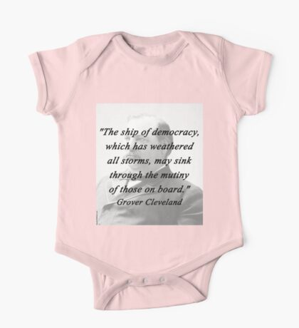 Ship of Democracy - Grover Cleveland One Piece - Short Sleeve