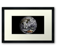Cloud simulation of the full Earth.  Framed Print