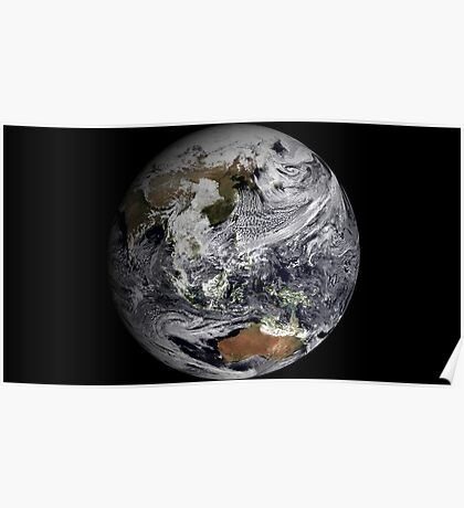 Cloud simulation of the full Earth.  Poster