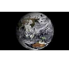 Cloud simulation of the full Earth.  Photographic Print