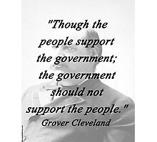 Support - Grover Cleveland Photographic Print