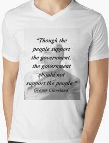 Support - Grover Cleveland Mens V-Neck T-Shirt