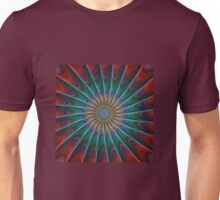 Colorful Abstract Digital Spiral Unisex T-Shirt
