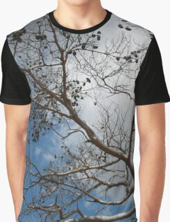 Skeleton of A Pine Tree Against Sky and Clouds Graphic T-Shirt