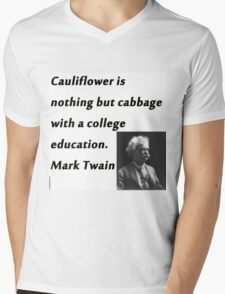 College Education - Mark Twain Mens V-Neck T-Shirt