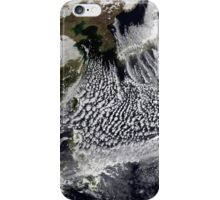 Cloud simulation of a single day centered over the western Pacific. iPhone Case/Skin
