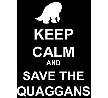 Keep Calm and save the quaggans Photographic Print