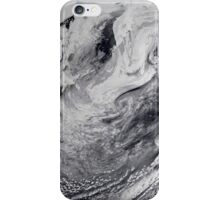 Cloud simulation of a single day centered over the middle Pacific.  iPhone Case/Skin