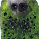 Greenie Owl by Julie  Sutherland