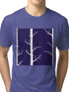 Trees on Ink Blue Tri-blend T-Shirt