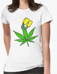 Free the weed Design #2 Womens Fitted T-Shirt