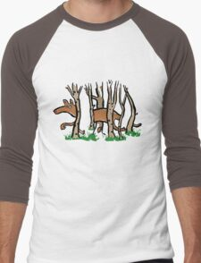 the elusive thylacine Men's Baseball ¾ T-Shirt