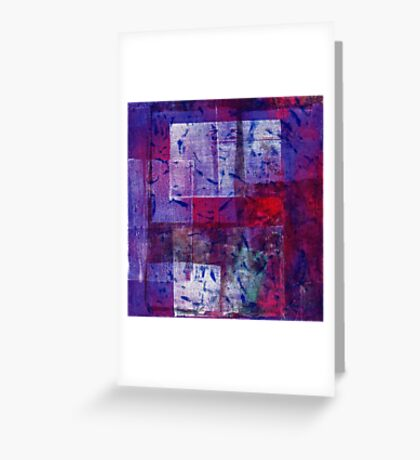 Purple Number Greeting Card