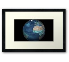 Full Earth showing evaporation over the Atlantic Ocean and the surrounding continents. Framed Print