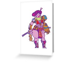 Tech Samurai Greeting Card