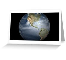 Full Earth view showing water vapor over the Americas. Greeting Card
