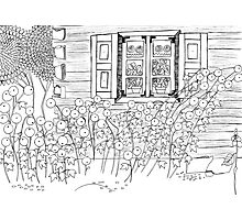 Adult Coloring Page - Country Life 02 Photographic Print