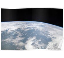 View of planet Earth from space. Poster