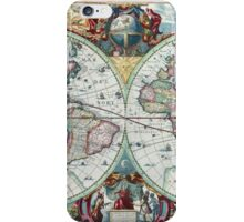 Beautiful Colorful Antique Vintage World Map iPhone Case/Skin