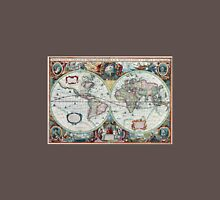 Beautiful Colorful Antique Vintage World Map Unisex T-Shirt