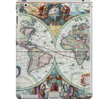 Beautiful Colorful Antique Vintage World Map iPad Case/Skin