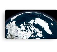 View over Greenland and the Arctic Ocean.  Canvas Print