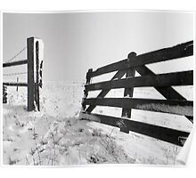 Open Fence in Wintertime Poster