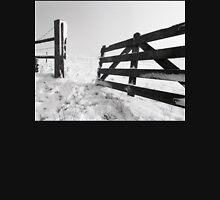 Open Fence in Wintertime Unisex T-Shirt