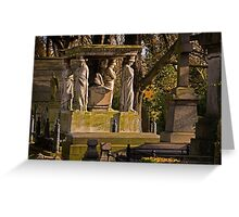 Kensal Green Cemetery in colour. Greeting Card