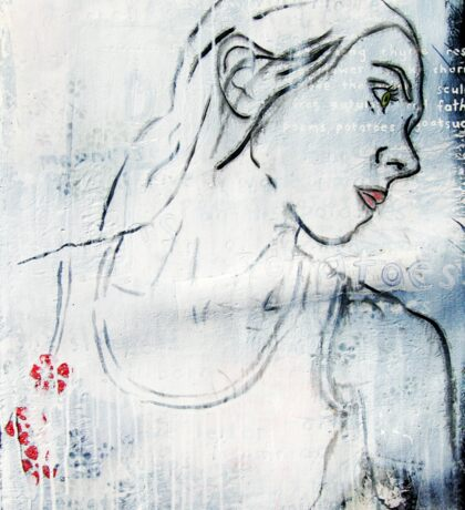 Poems, Potatoes - (self portrait - homage to Sylvia Plath) Sticker