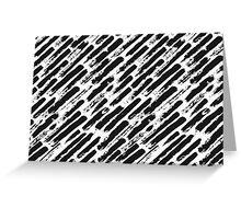 Grunge Brush Srokes Pattern Diagonal Greeting Card