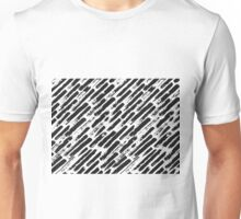Grunge Brush Srokes Pattern Diagonal Unisex T-Shirt