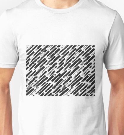 Grunge Brush Srokes Pattern Diagonal Unisex T-Shirt