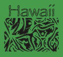 Hawaii Tribal - Black Ink Kids Tee