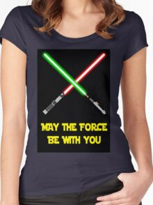 May the force be with you-star wars fanart Women's Fitted Scoop T-Shirt