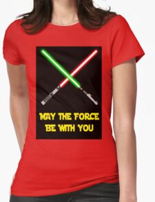 May the force be with you-star wars fanart Womens Fitted T-Shirt