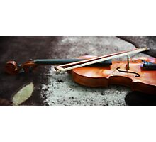 Violin is incomplete without bow Photographic Print