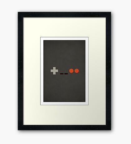 NES - Nintendo Controller Minimalist Series Framed Print