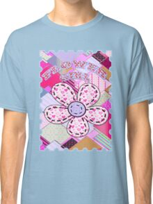 beautiful cool design square pink  Classic T-Shirt