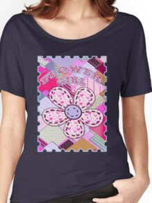 beautiful cool design square pink  Women's Relaxed Fit T-Shirt