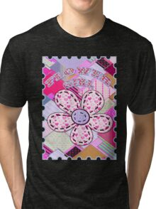 beautiful cool design square pink  Tri-blend T-Shirt