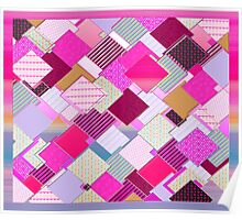 beautiful cool design square pink  Poster
