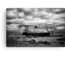 High and Dry at Dungeness Canvas Print