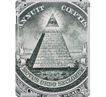 One dollar bill all seeing eye iPad Case/Skin