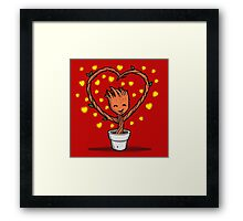 A message of Love Framed Print